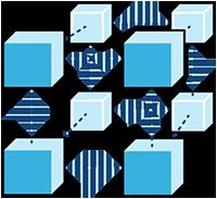 Icon- Blockchain illustration