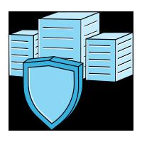 Icons- Shielded enterprise buildings